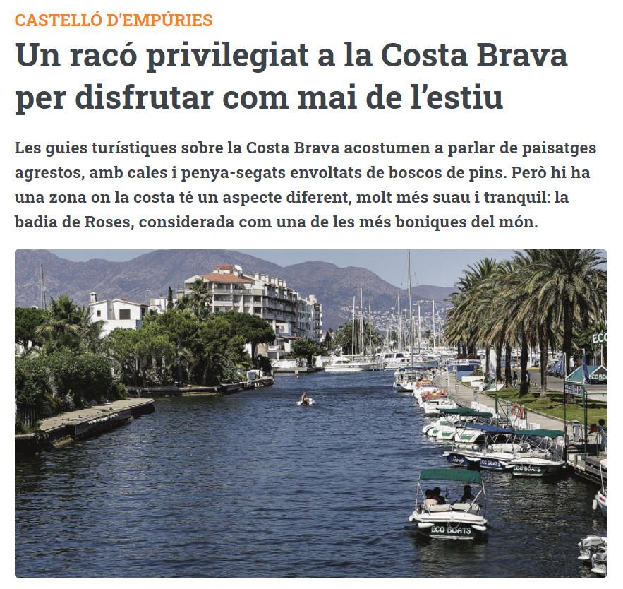 Un racó privilegiat a la Costa Brava per disfrutar com mai de l'estiu