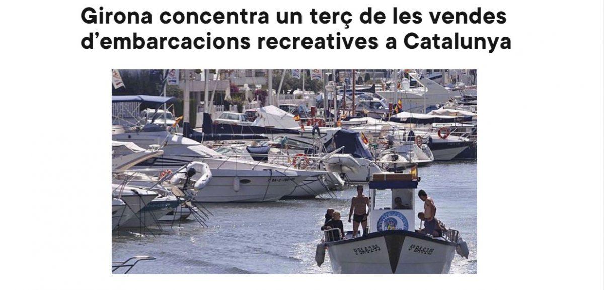 Girona concentra un terç de les vendes d'embarcacions recreatives a Catalunya
