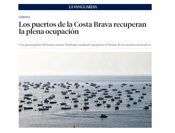 Els ports de la Costa Brava recuperen la plena ocupació